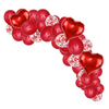 55 Piece Red Love hearts balloon cloud