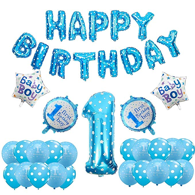 Happy 1st Birthday balloon bundle