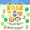 38 Piece Jungle Safari ROAR Party Pack