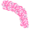 55 Piece Pink Love hearts balloon cloud