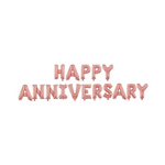 Happy Anniversary Balloon Banner - Rose Gold