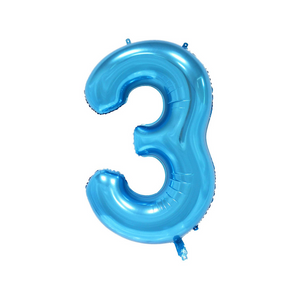 Teal & Gold Confetti 3rd Birthday Balloon Set