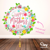 Giant Flower wreath Mother's Day Balloon - Delivered Inflated