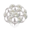 Silver Confetti Balloon Bunch
