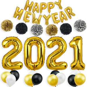 New Year 2021 Party Pack - Black & Gold