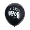Black 'He or She' Gender Reveal Balloon