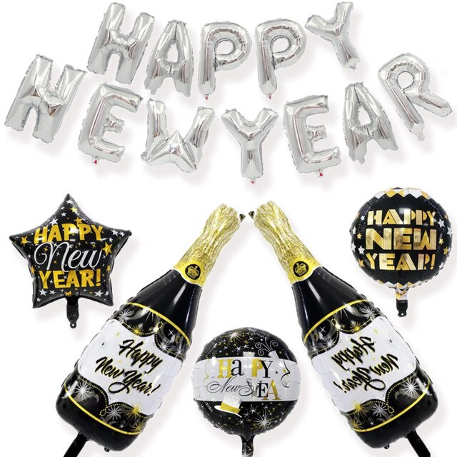New Year 2021 Party Pack - Silver & Black