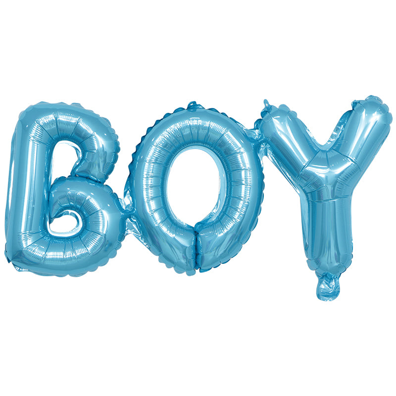 Blue, Foil, Helium and Air BOY balloon available for sale via www.cleybaby.com