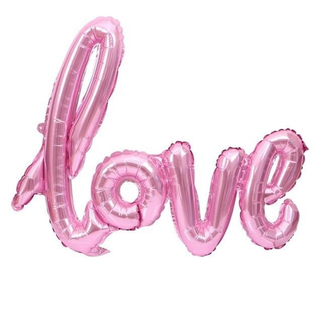 Love Script balloon - Rose Gold