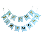 1st Birthday - Blue & Gold Party Decorations Kit