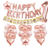 1st Birthday - 25 Piece Rose Gold Birthday Party Decorations Kit