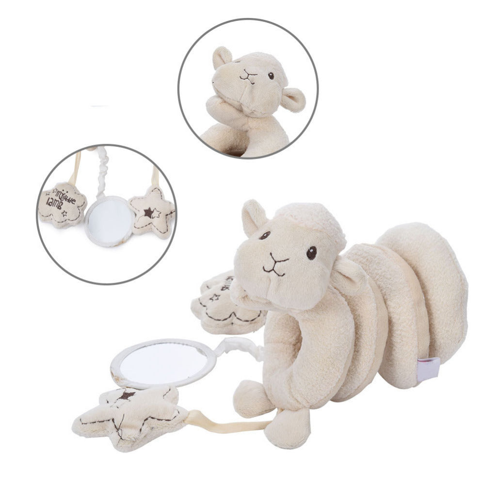 Spiral Sheep Car Seat And Cot Soft Toy Clybaby