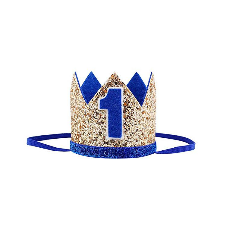 Blue 1st Birthday Royalty Party Pack