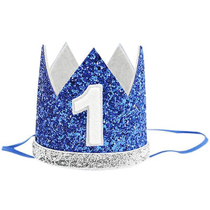 1st Birthday - Blue, Silver & Green Party Decorations Kit