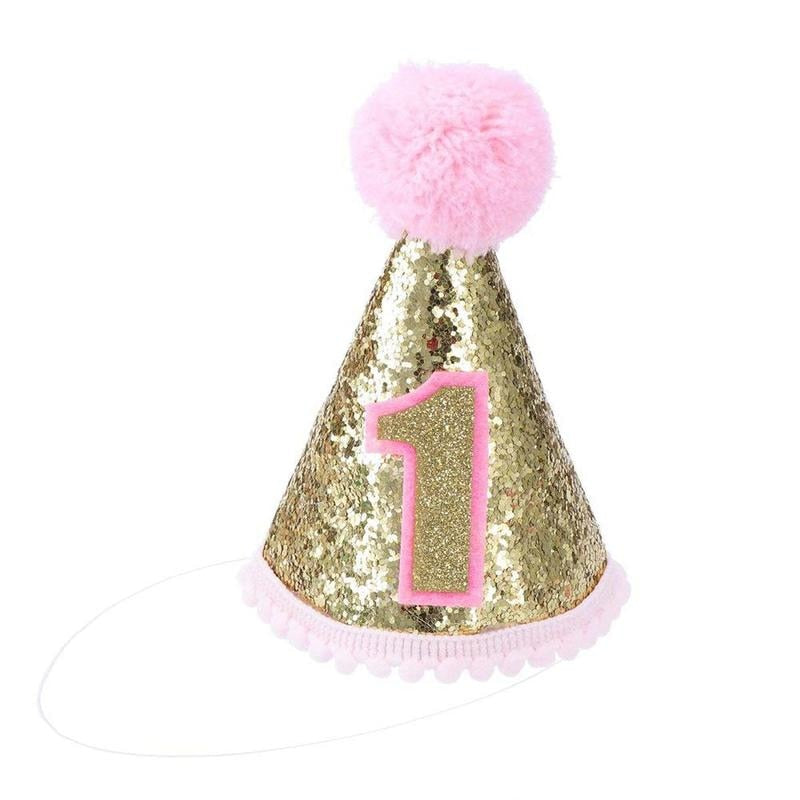 1st Birthday - 56 Piece Rose Pink & Gold Party Decorations Kit