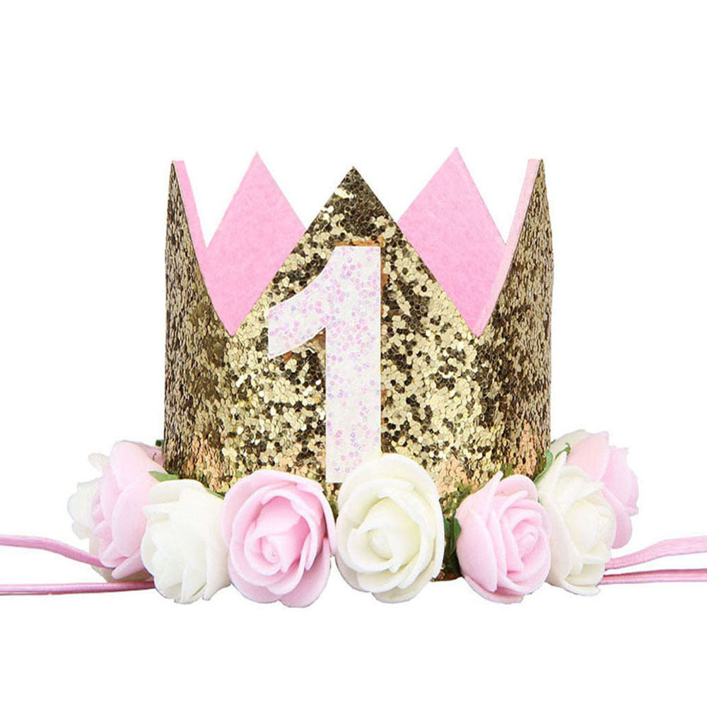"Pink, Gold & White ""I AM ONE"" Birthday Party Pack"