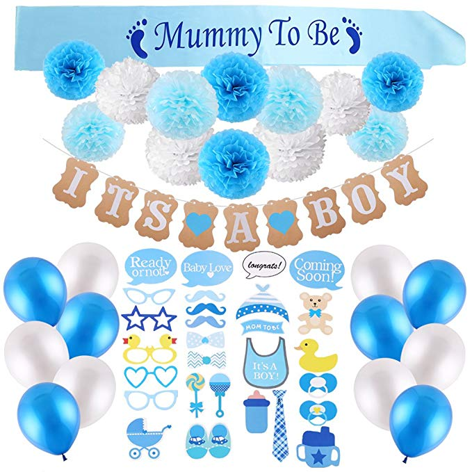 "Blue ""It's a Boy"" Baby Shower Party Pack"