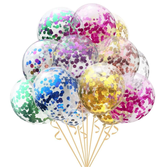 Rainbow Confetti Balloon Bundle