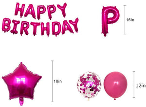 Rose Pink Happy Birthday party pack