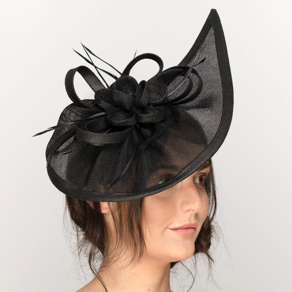 black funeral hats