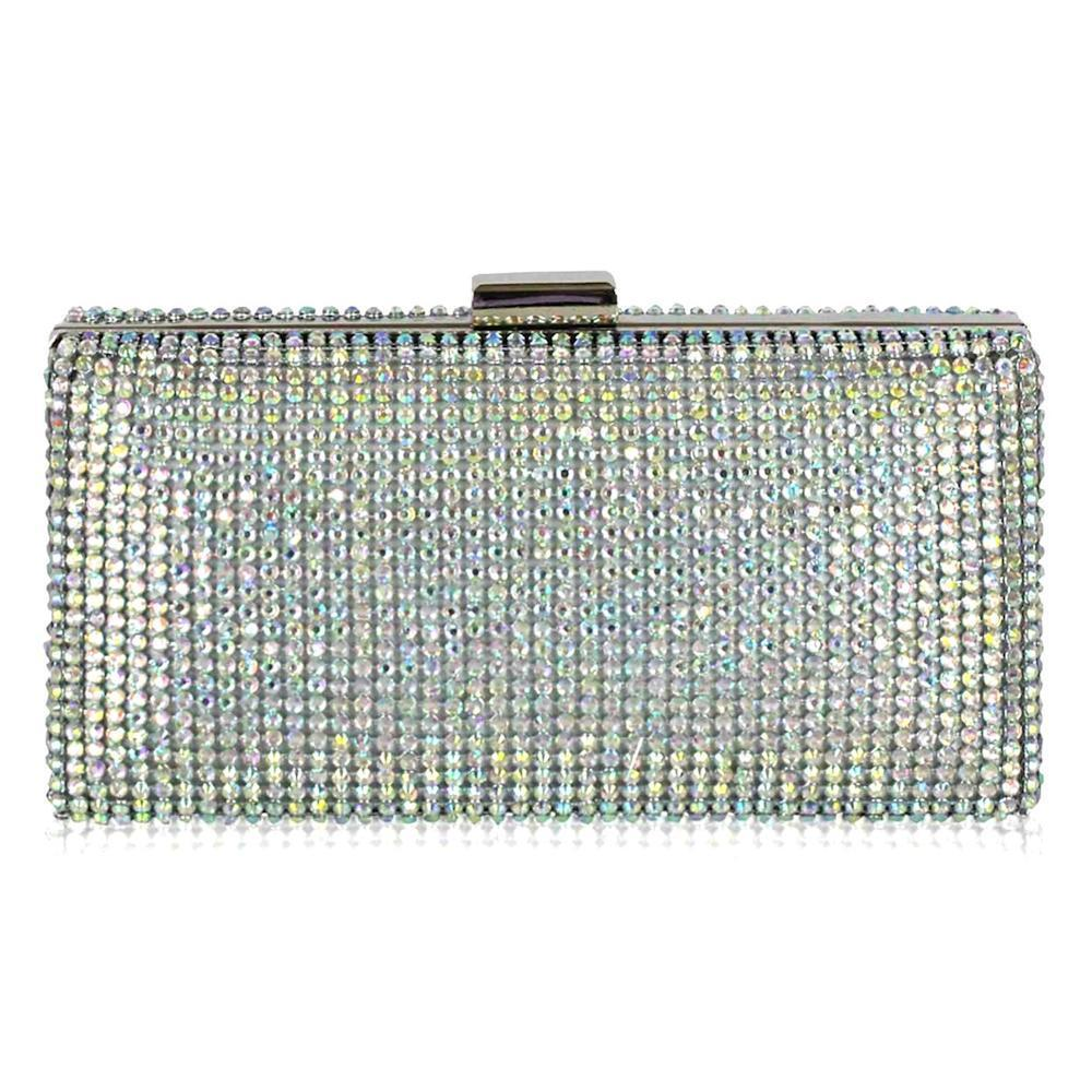 AB Crystal Diamante Clutch Bag-Fascinators Direct
