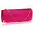 Fuschia Pink Glitter Clutch Bag-Fascinators Direct