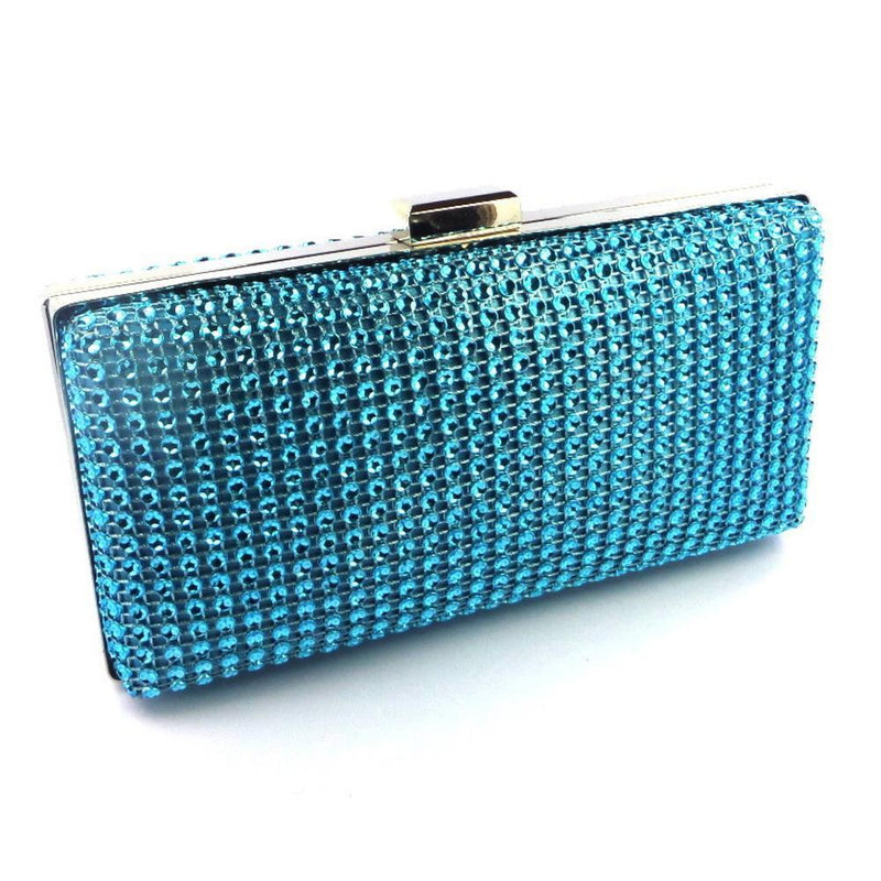 Sparkly Turquoise Clutch Bag-Fascinators Direct