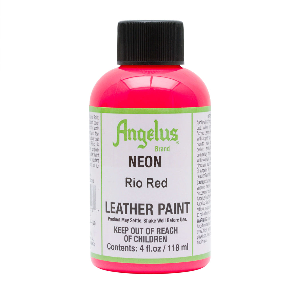 Angelus Acrylic Leather Paint Neon Colors 4oz