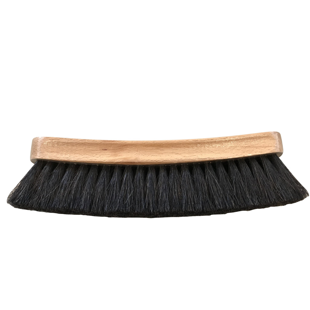 Professional Shoe Shine Brush Dark Bristle Buffing Brush 8""