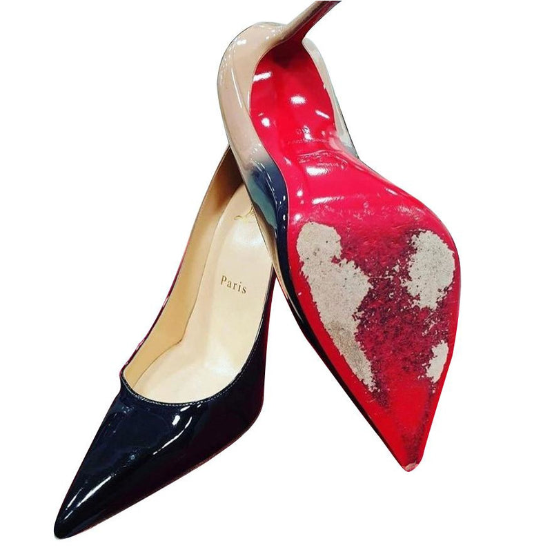 Christian Louboutin Italian Mirrored Red soles Bottom Repair- One Pair