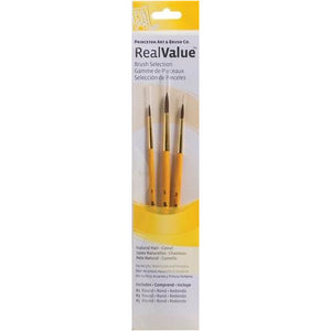 PRINCETON PAINT BRUSH SET CAMEL ROUNDS 1,3,5- 9100