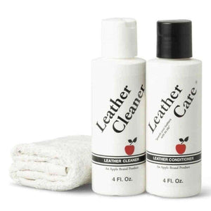 Apple Brand Leather Care Kit 4oz Cleaner & 4oz Conditioner + Cloth