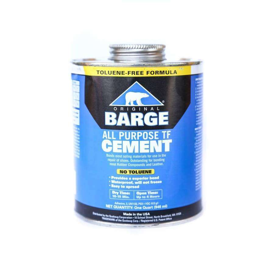 BARGE All-Purpose TF CEMENT Rubber Leather Shoe Waterproof Glue 1 Qt (0.946 L)