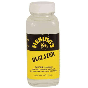 Fiebing's Deglazer Clear 4oz Leather stripper and Preparer