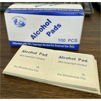 Portable Alcohol Prep Pads disinfectant Swab Wipes Phone Cleanser 100 Pack
