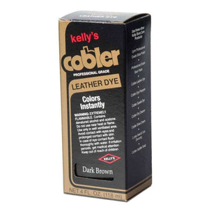 Kelly Cobbler Leather Dye Dark Brown 4oz