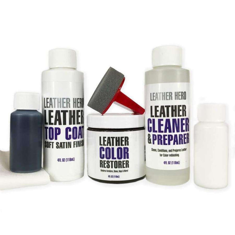 Leather Hero Leather Color Restorer Complete Repair Kit 4oz
