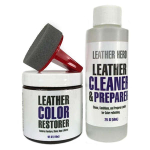 Leather Hero Leather Color Restorer Repair Kit- 4oz