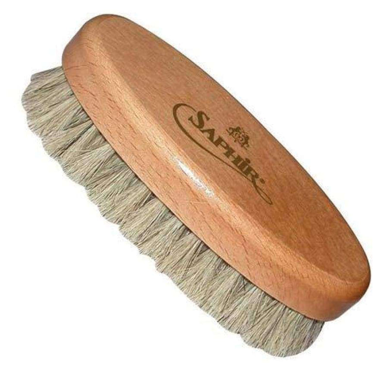 "Saphir 5"" Oval Shoe Shine Buffing Brush"