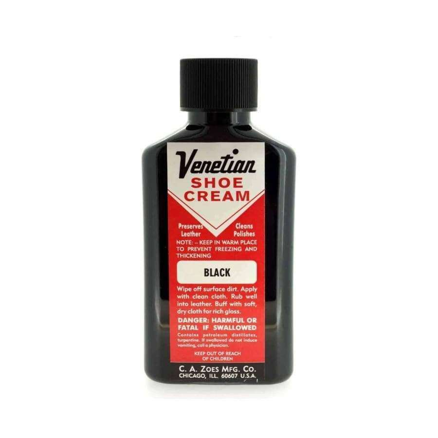 Venetian Shoe Cream Black 3oz