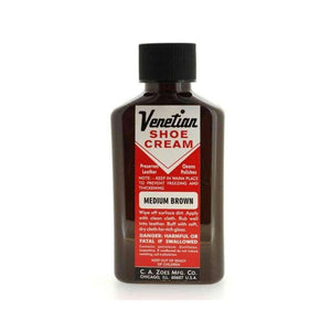 Venetian Shoe Cream Medium Brown 3oz
