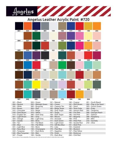 Angelus Color Chart