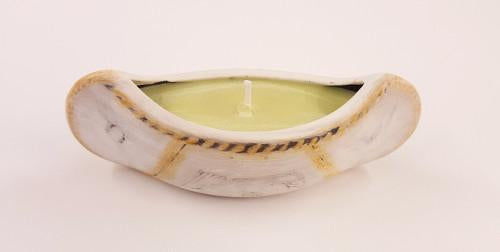 Small Sweetgrass Canoe Candle