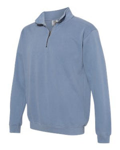 Blue Jean Comfort Colors Quarter zip sweatshirt