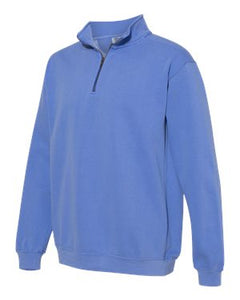 Flo Blue Comfort Colors Quarter Zip Sweatshirt