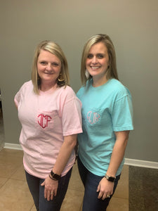 Heart Monogram Comfort Colors Tee