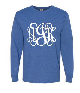 Long Sleeve Monogram Tee