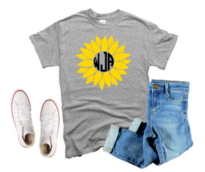 Youth  Sunflower Monogram Shirt