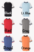 Color block Monogram Tee
