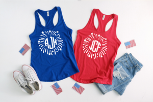 Patriotic Monogram Tank for Women